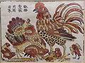 Rooster and hen, Dong Ho picture, paper - Vietnam National Museum of Fine Arts - Hanoi, Vietnam - DSC05287.JPG