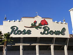 Main entrance to the Rose Bowl Stadium