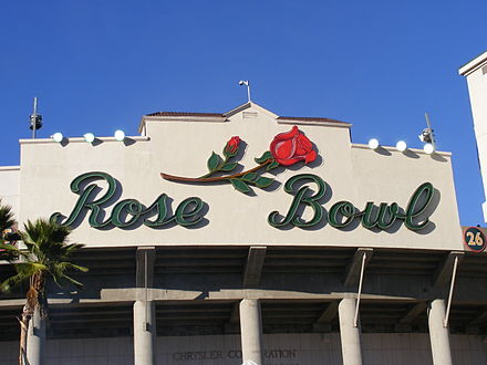 The Rose Bowl hosted the track cycling events for the 1932 Summer Olympics Rosebowl.JPG