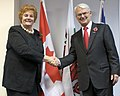 Rosemary Butler AM meets Mr. Gordon M. Campbell, High Commissioner for Canada.jpg