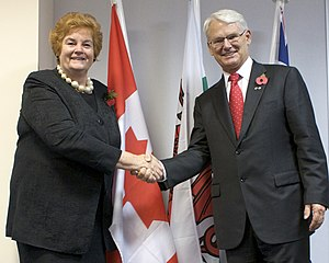 Gordon Campbell - Campbell meeting Rosemary Butler, the Presiding Officer of the National Assembly for Wales in Cardiff, Wales.