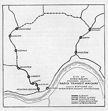 Cincinnati Subway Map.Cincinnati Subway Wikipedia