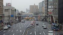 Route9 Ends Shimonoseki stn.JPG