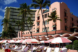 Royal Hawaiian Hotel, in Hawaii