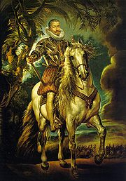 Equestrian Portrait of the Duke of Lerma, 1603, Museo del Prado, Madrid. Painted during Rubens's first trip to Spain in 1603.