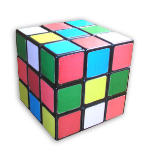 English: Rubik's Cube in scrambled state