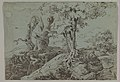 Rugged Moonlit Landscape with a Woman Seated by Gnarled Tree Roots, and an Owl MET DP819685.jpg