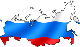 Russian Flag with map