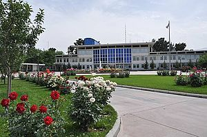 Afghanistan–Russia relations - Russian embassy in Kabul, Afghanistan.