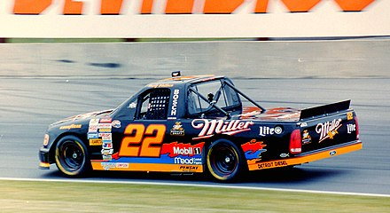 Wallace's only Truck Series start was at Nazareth Speedway in 1996 Rusty Wallace Penske South Ford Nazareth 1996.jpg
