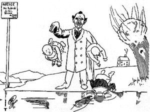 "Harry Graham (poet) - ""Father heard his children scream"" – illustration to the 1898 Ruthless Rhymes"
