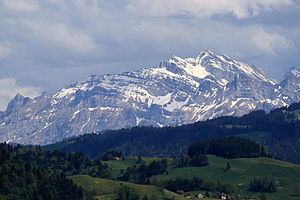 Säntis - Säntis seen from the Batzberg