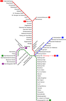 Salzburg S-Bahn - Wikipedia on porto bus map, bucharest bus map, santiago bus map, kaiserslautern bus map, wiesbaden bus map, split bus map, mexico city bus map, munich bus map, rothenburg ob der tauber bus map, wien bus map, cuenca bus map, dresden bus map, villach bus map, regensburg bus map, osaka bus map, stuttgart bus map, thessaloniki bus map, caen bus map, vienna bus map, houston bus map,