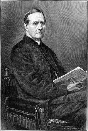 Sabine Baring-Gould - Sabine Baring-Gould, engraving published in Strand Magazine, from a photograph by Downey (died 1881)