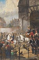 1810, vertrek van Lodewijk Napoleon uit Amsterdam