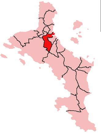 Bel Air, Seychelles - Location of Bel Air District on Mahé Island, Seychelles