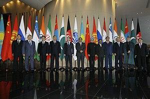 SCO summit, Yekaterinburg, Russia, 2009.