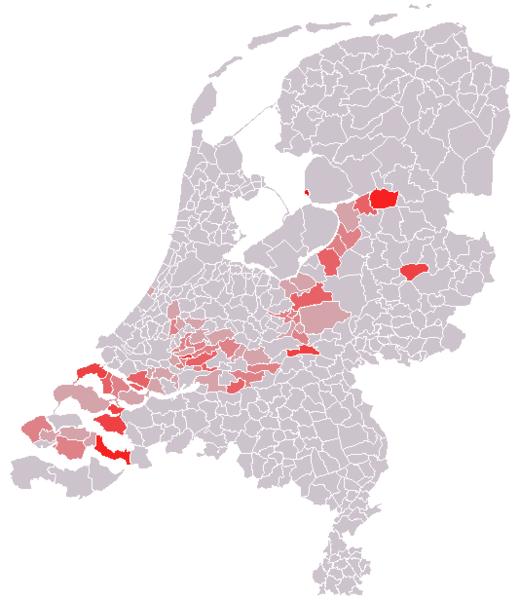 Парламентские выборы в Нидерландах 2012 год: электоральная карта