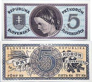 Banknotes of the Slovak koruna (1939-45) - 20 korún