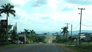 Spanish Lookout - The main drag at Spanish Lookout on a Sunday morning in 2007