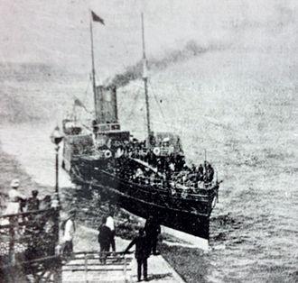 SS Tynwald (1866) - Tynwald arriving at Llandudno, 19th July, 1887.