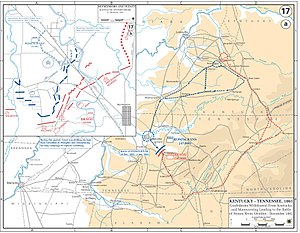 Battle of Stones River - Western Theater: movements October–December 1862 (Stones River Campaign)