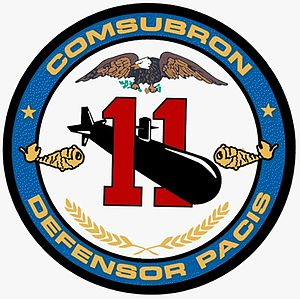 Submarine Squadron 11 - The Crest for Submarine Squadron 11