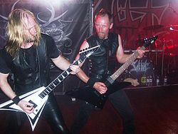"Sabbat: Andy Sneap und Simon ""Jack Hammer"" Jones, London Scala 2008."