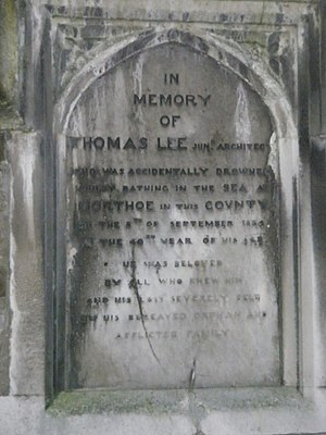 Thomas Lee (1794–1834) - Memorial to Thomas Lee, Junior, at St. Anne's Chapel, Barnstaple