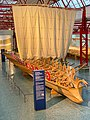 Sail of a reconstructed Navis lusoria ship in the Museum of Ancient Seafaring, Mainz, Germany (48988288786).jpg