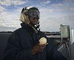 Sailor observes flight deck 161003-N-DA275-043.jpg