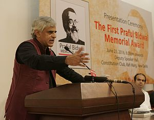 Palagummi Sainath - PARI gets first Praful Bidwai Memorial Award