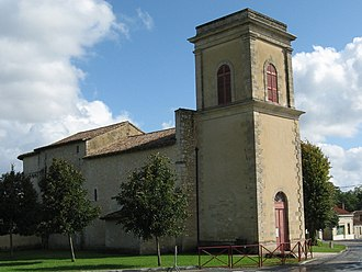Saint-Sauveur, Gironde - Image: Saint Sauveur, Gironde, église Sainte Marie bu IMG 1337