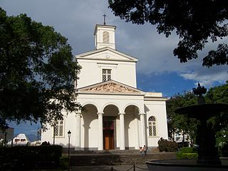 Cathedral of the commune of Saint-Denis, Réunion Island.