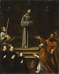 Saint Francis of Assisi Appearing before Pope Nicholas V, with Donors (La aparición de San Francisco de Asís al Papa Nicolás V, con donantes)