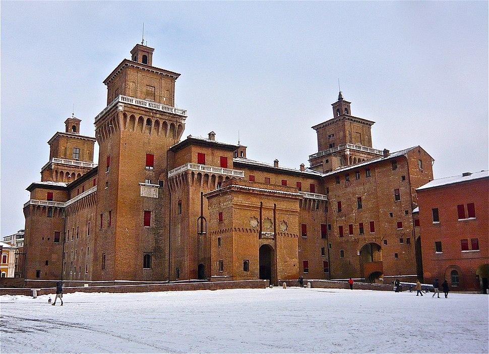 Saint Micheal Estense's Castle during winter