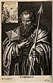Saint Thomas. Engraving. Wellcome V0033093.jpg