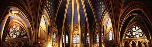 panoramic of the lower chapel chapelle de la sorbonne chappelle de la