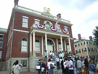 Immigration to the United States - Naturalization ceremony, Salem, Massachusetts, 2007