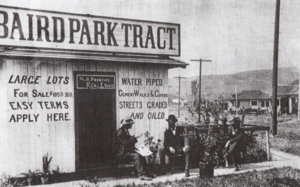 El Sereno, Los Angeles - Sales office for Baird Park, 1904