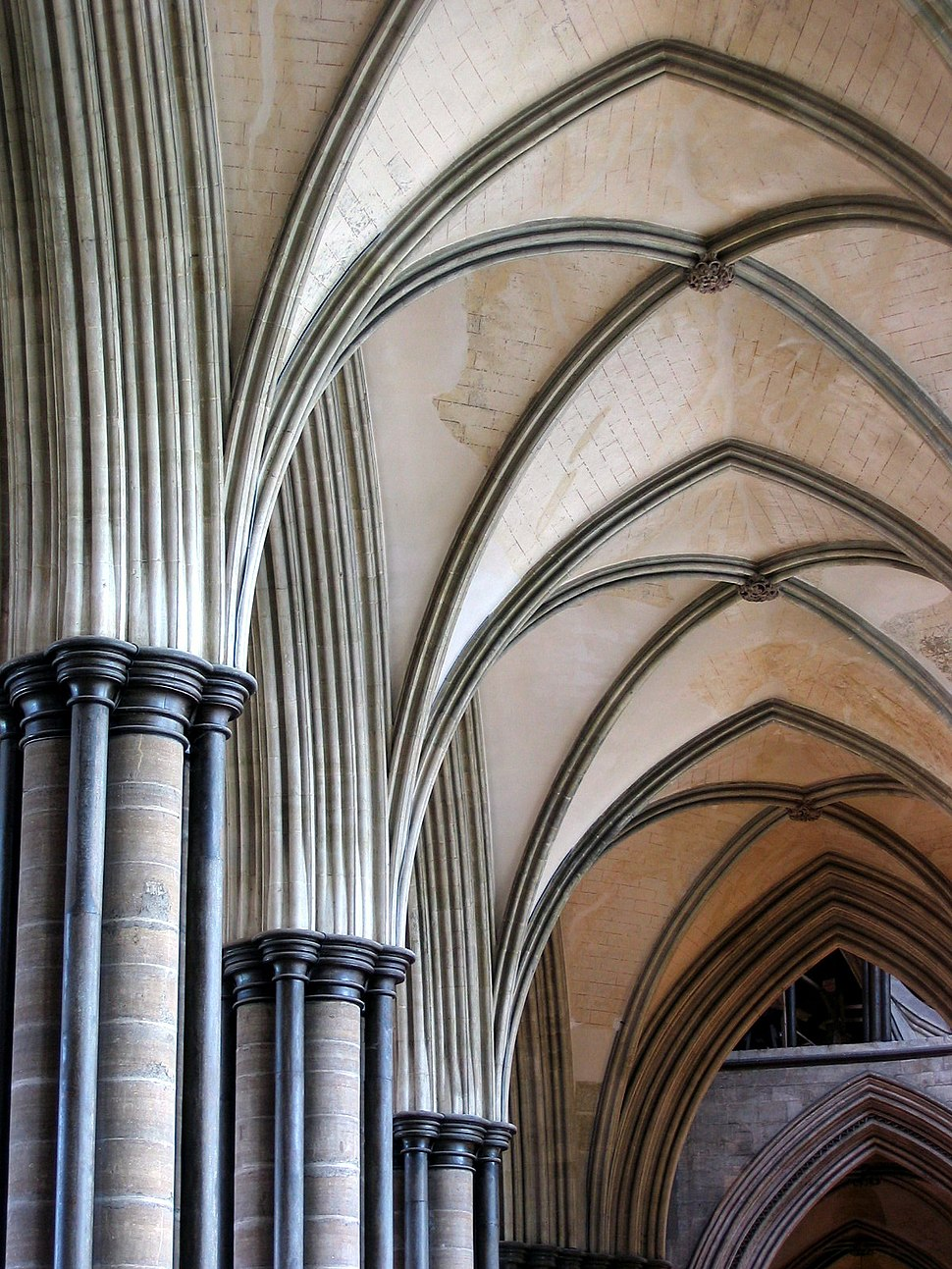 Salisbury Cathedral Detail Arches