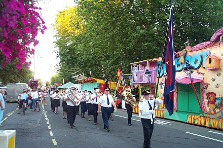 A Salvation Army band parade in Oxford, United Kingdom SalvationArmyParadeOxford20040905.JPG