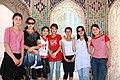 Samarkand, Shah-i-Zinda, local girls (6238373551).jpg