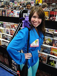San Diego Comic-Con 2011 - Kitty Pryde Shadowcat with Lockheed.jpg