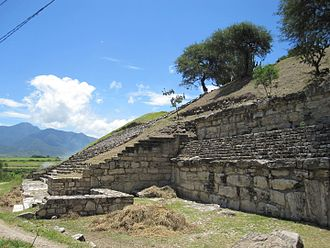 San José Mogote - The partly excavated main pyramid of San Jose Mogote