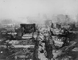 Earthquake insurance - 1906 San Francisco earthquake