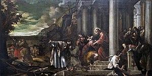 Santa Giustina (Padua) - Chapel of Saint Matthias - The mission of the Apostles (1631) by Battista Bissoni.jpg