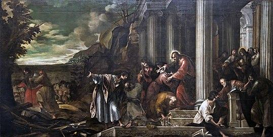 Santa Giustina (Padua) - Chapel of Saint Matthias - The mission of the Apostles (1631) by Battista Bissoni