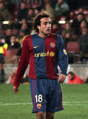 Santiago Ezquerro - Ezquerro playing for Barcelona in 2006