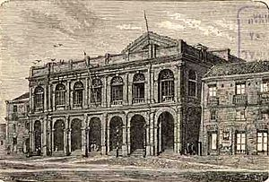Municipal Theatre of Santiago - View of the Teatro Municipal in 1872.